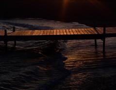 liminal space (parfois) Tags: aprilwasteland parfois koyanagi bridge twilight sea water dock light goldenhour melancholy nature landscape heavenly suddenly waves surf sand beaches