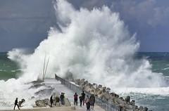das Meer tobt... (wolfi-rabe) Tags: nordsee dänemark sturm orkan naturgewalt mole