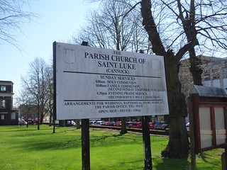 Parish Church of Saint Luke (Cannock) - church sign
