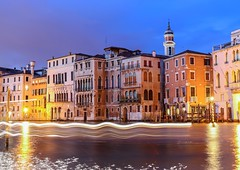 Canal grande in the evening, Venice, Italy (Frans.Sellies) Tags: img5690 venice venedig venezia