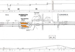 Euston - Carlisle 17 1975 Acton Grange -  Dallam (twilight bear) Tags: track diagram acton grange junction dallam warrington bank quay 1975