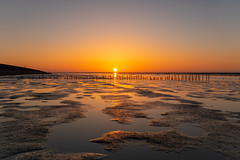 IMG_3582 (chemist72 (Pascal Teschner)) Tags: canon7dii sea sunset beach ocean sky bay water landscape shore sand waddenzee mudflats mud wadden groningen netherlands longexposure leefilter ndfilter