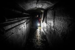 In The Darkness (MMiPhoto) Tags: dark tunnel roker pier sea coast sunderland beach underground fuji