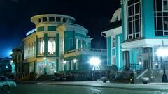 Затишье. (akl_119) Tags: город огни фонари иллюминация city lights lanterns illumination omsk night ночь вокзал
