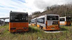 AMT 4319 e 9113 (Lu_Pi) Tags: amt genova autobus bus bolzaneto busaccantonato busradiato autobusradiati bredabus bredabus2001 pininfarina bredamenarinibus bmb m321 bredone