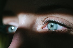 Kelly's eyes (michael spear hawkins) Tags: lenstagger eyes blue blueeyes pupil iris macro micronikkor 105mmf28ais ojos light sunlight