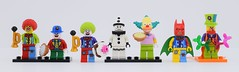 LEGO Clown evolution😋 (Alex THELEGOFAN) Tags: lego legography minifigure minifigures minifig minifigurine minifigs minifigurines clown circus party series collectible 18 1 10 5 birthday afro make up tears of batman krusty balloon collection sad black white