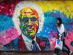 Remembering John Hanna a well known and liked Mens Wear retailer in Canberra - a fabulous mural #inthecitycanberra by Canberra artist @christopherpaultoth (grahamgall.photo) Tags: ifttt instagram