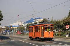 MUNI ex ATM 1895 (Davuz95) Tags: tram carrelli san francisco atm muni milan milano arancio ministeriale