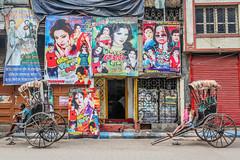 Kolkata, India (gstads) Tags: kolkata calcutta india indian bengal bengali westbengal street streetphotography rickshaw rickshaws rickshawwala cinema film filmposter bollywood