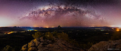 MW Pano from top of Mt Ngungun (tony.liu.photography) Tags: milkyway astro astrophotography landscape panorama pano mountain ngungun hinterlands queensland australia canon 5d4 sigma 14mm art night sky nightscape stars