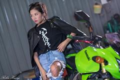DSC_5314 (Robin Huang 35) Tags: 方唯真 chubby 修車廠 重機 重型機車 motorcycle 人像 portrait lady girl nikon d850