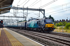 88005 + 68016 - Rugby - 21/07/18. (TRphotography04) Tags: direct rail services drs 88005 minerva 68016 fearless arrive rugby with the crewe open day special 0828 london euston