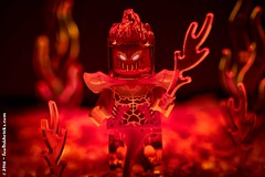 From the fire below... (Foolish Bricks) Tags: lego legophotography toyphotography legography minifigures hell devil fire red