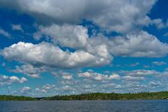 "Seagull Lake, Minnesota 20180706-DSC08150 (Rocks and Waters) Tags: ""gunflinttrail"" blue lake seagulllake zeiss a7r2 clouds greensony rocksandwaters sonnartfe1855 trees water"