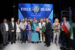 Maryam Rajavi with a high ranking delegation of MPs and dignitaries from the UK (maryamrajavi) Tags: regime overthrow certain iran free maryam rajavi paris resistance people victory grand gathering مریم رجوی ایران آزادی ویلپنت گردهمایی رژیم سرنگونی مسعود