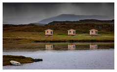 Location, Location, Location (Robgreen13) Tags: iceland snaefellsnes stykkisholmur huts boat landscape mountains rain 3