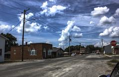 Galatia, IL 05 (Christopher Elliot Taylor) Tags: 3152 outdoors smalltownamerica mainstreetusa road street neighborhood sky clouds canont1i affinityphoto hdr tonemapping ruraltown galatiaillinois southernillinois illinois travel tourism scene