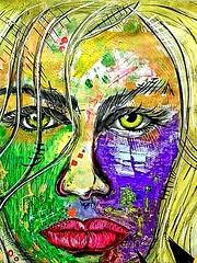 Margot (franck.sastre) Tags: art face eyes lipos painting streetart colors