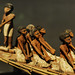Model of Egyptian Riverboat with Crew