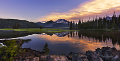 Sunset at the Lake. (Deschutes National Forest, Central Oregon). (Sveta Imnadze) Tags: centraloregon oregon deschutesnf sparkslake sunset reflection