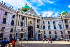 Hofburg palace on St. Michael square (Michaelerplatz) in Vienna