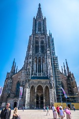 The tallest church in the world is the Ulm Minster, the main Lutheran congregation in Ulm, Germany.