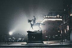 DSCF7844 (olegmescheryakov) Tags: москва россия ru keywords dusk × night stage light illuminated spotlight silhouette nightlife evening building monument horizon palace place square lights snow winter city cityscape urban town street landscape landmark twilight architecture historic outdoors