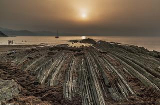 Playa Itruzun en Zumaia