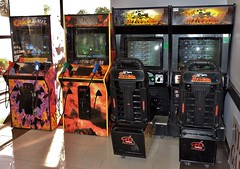 Arcade video games (Will S.) Tags: mypics games videogames arcadegames arcade pinball pinballmachines dormitionofthevirginmary greekorthodoxchurch orthodoxy greekorthodoxy greek orthodox greekorthodox easternorthodox easternorthodoxy christian christianity church churches ottawa ontario canada