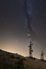 _DSC2607 (fjsmalaga) Tags: antequera via vl lactea antenas noche comunicasiones
