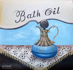 Bath Oil, Art Painting / Oil Painting For Sale - Arteet™ (arteetgallery) Tags: arteet oil paintings canvas art artwork fine arts essential bath bottle background oils beauty white healthy health glass care relaxation spa wellness treatment therapy aromatherapy isolated nature aroma still life decorative blue black paint
