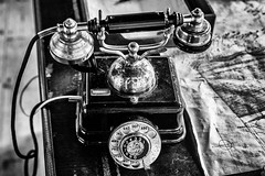 A Call From The Past (Ronny Darko) Tags: old vintage telephone retro past vergangenheit waehlscheibe dial military militaer army armee oldschool rotary black white schwarz weiss bw
