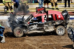 It was full size. Now it's a compact. (Laurence's Pictures) Tags: boone county fair belvidere illinois state show animal politican tractor 2018 demolision demolition derby cars race auto automobile america crash junk racing nascar em up