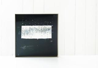 Sunaarashi (framed) (2018) Acrylic on Avalon paper 300g 245x245mm