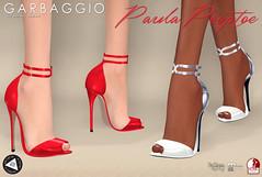 Paula Peeptoe (Ashleey Andrew) Tags: garbaggio sl secondlife second life virtual world fashion apparel accessories footwear shoes original mesh shoe peeptoes blush