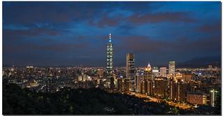 Taipei 101 Panoramic cityscape, Taipei, Taiwan