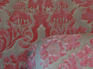 wallpaper and seat upholstery