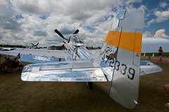 037 P51 472339 (Mike Miley) Tags: osh18 aircraft airplane airshow airventure eaa experimentalaircraftassociation fighter mustang oshkosh p51 propeller thebratiii warbird wi unitedstates us