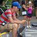 A Pedicab Driver Takes a Break