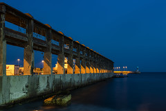 Decay (panos_adgr) Tags: nikon d7200 drapestsona attica greece decay sea structure architecture blue night photography long exposure water motion dusk