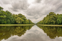 a time for reflection (stevefge) Tags: 2018 deutschland duitsland germany munchen nymphenburg sky cloud landscape trees bomen water lakes reflectyourworld reflections perspective summer