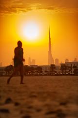 Morning Jog ..... ( MBS-.. ) Tags: nikon d700 sunrise burj khalifa sun city walk skyline sky morning jog workout pentax supertakumar 6x7 medium format dubai uae removedfromstrobistpool nooffcameraflash seerule1