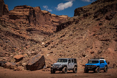 Long Way From Home (Fire_For_Effect) Tags: moab utah ut usa united states america red rocks mountains canyon canyonland green river colorado trail hiking offroad 4x4 low range 4wd awd toyota fj cruiser fjsummit canon photography jeep wrangler unlimited rubicon