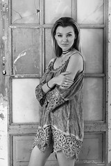 Kaja (piotr_szymanek) Tags: kaja kajak woman portrait studio face eyesoncamera dress door longhair blackandwhite mini 1k 20f 50f 5k 10k 100f bestportraitsaoi 20k