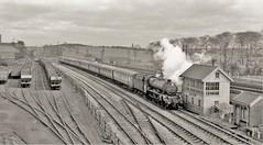 Lockes Sidings (Lost-Albion) Tags: jubilee45636 lms lockessidings signalbox tsbg normanton yorkshire 1961