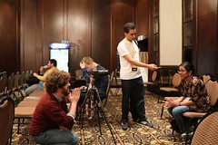 Daniel Bogre Udell interviewing Malayasian Wikimedian at Wikimania 2018, Cape Town (O Foundation (OFDN)) Tags: wikimania 2018 wikimania2018 wikimedia wikipedia capetown africa southafrica ofdn