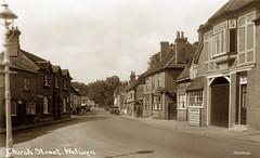 Church Street, Welwyn (footstepsphotos) Tags: welwyn churchstreet road car dairy creamery casson vine old vintage postcard past historic