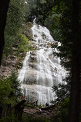 Bridal Veil Falls Grandeur (Gene Mordaunt) Tags: bridalveilfalls britishcolumbia canada waterfall trees forest water cascade mountain river