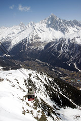 Red (Magryciak) Tags: 2018 europe france trip travel holiday vacation mtblanc mtblancexpress mountain outdoors landscape canon eos chamonix brevent lift chairlift skiresort ski snow winter altitude town village sky